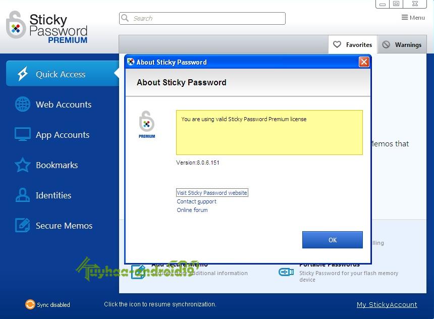 Stiky Password