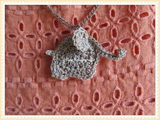 free elephant crochet pendant pattern
