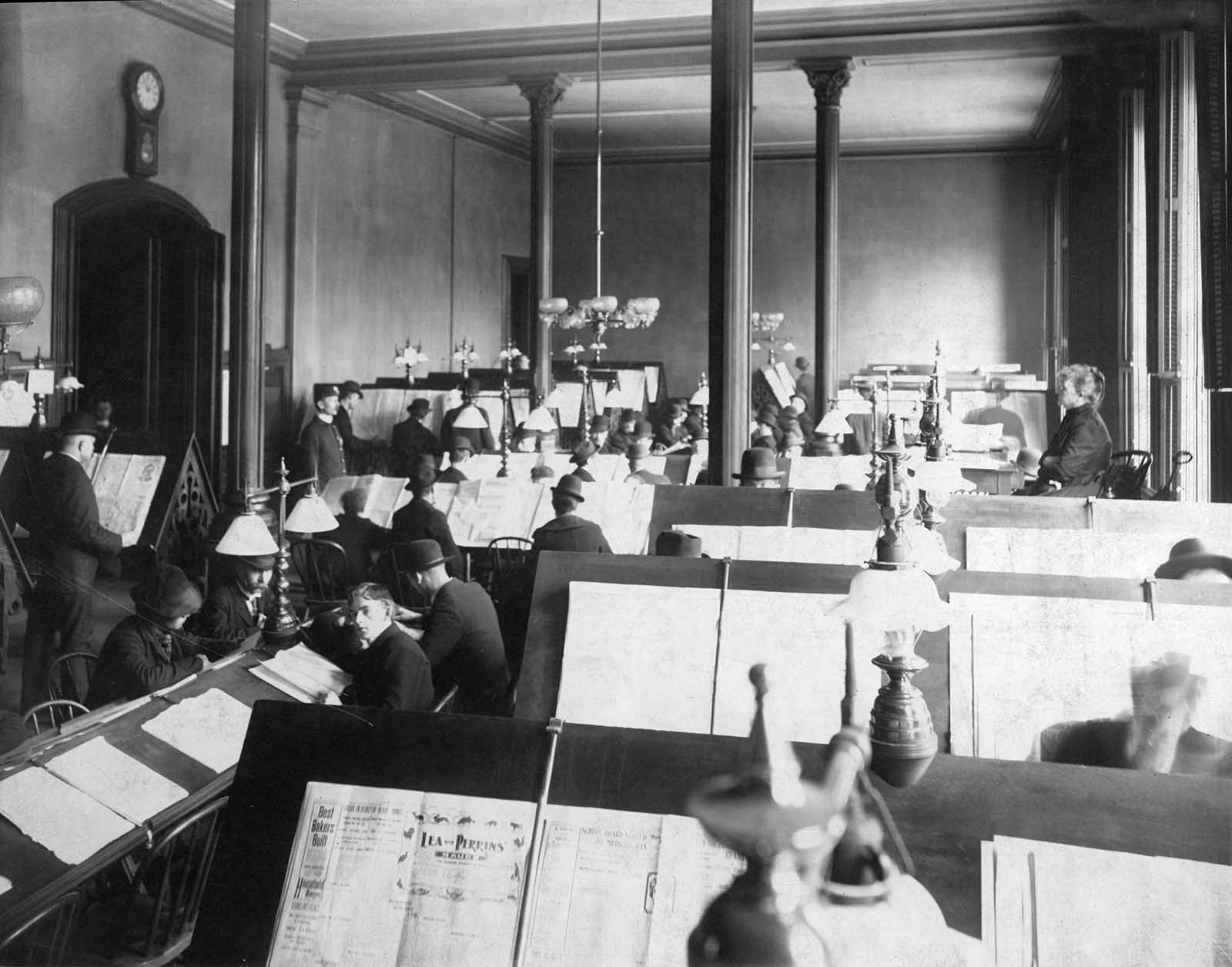 The Newspaper Room (photo circa 1899).