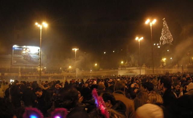 Piazza del Popolo no Ano Novo em Roma