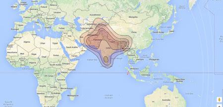 Beam Chinasat 11 Ku Band South Asia Terbaru