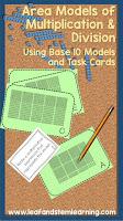 Area Model Task Cards
