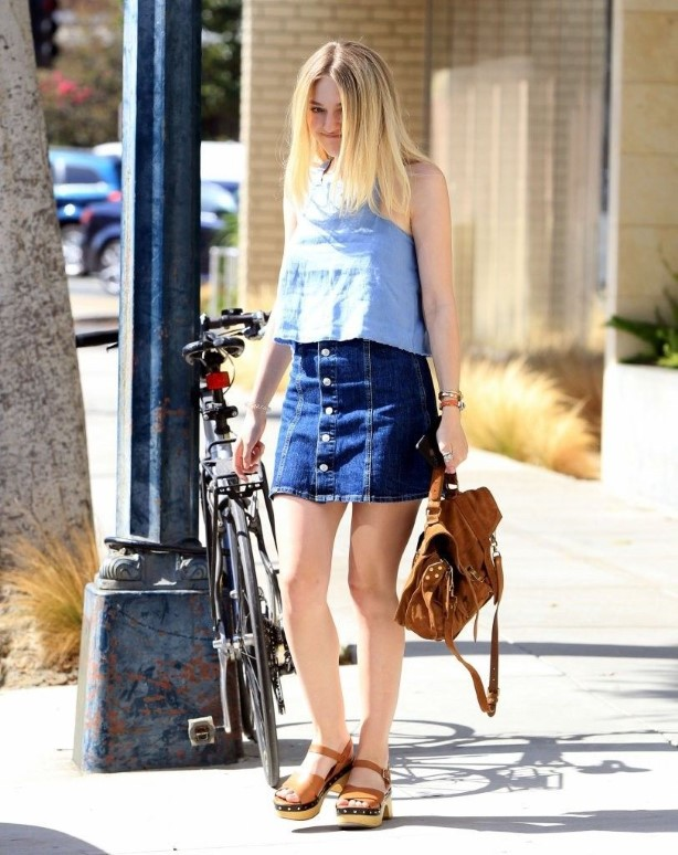 Dakota Fanning Out and About in Beverly Hills
