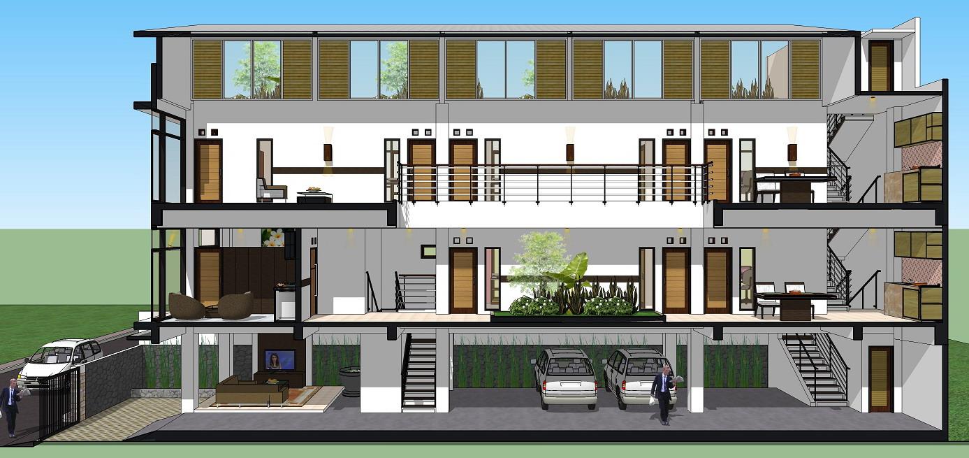 Gambar Denah Rumah Mewah Modern Contoh Sur