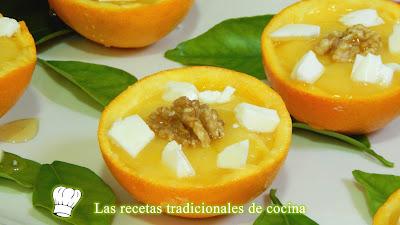 Postre de crema de naranja muy fácil y delicioso