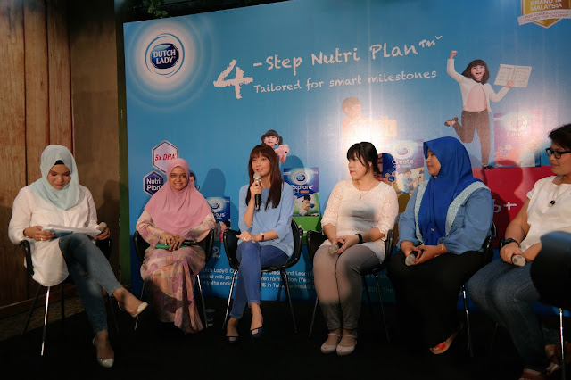 Dutch Lady Nutri Plan with 5X DHA,  Dutch Lady Nilai Bijak campaign,  Dutch Lady Education Protection Plan worth RM100,000, Step by Step Nutrition and Nurturing Guidance by Dutch Lady, Scha Alyahya, Lara Alaana,