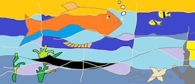 Peixe, aquário, mar