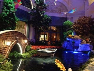 The Bellagio's Conservatory & Botanical Gardens fully decorated for the summer season.