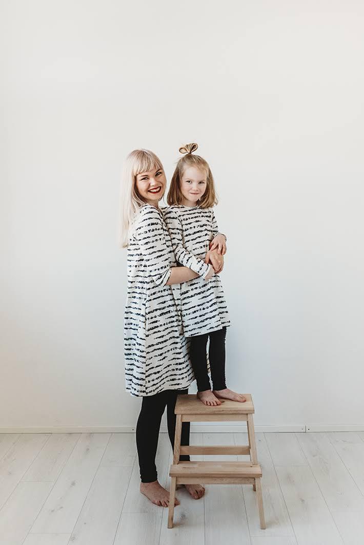 Annan tirpat, Anna-Maria Mäkelä, kotimaiset vaatteet, ekologiset vaatteet, Nokian neulomo, Koivu-kuosi