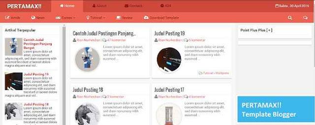 template blogger pertamax