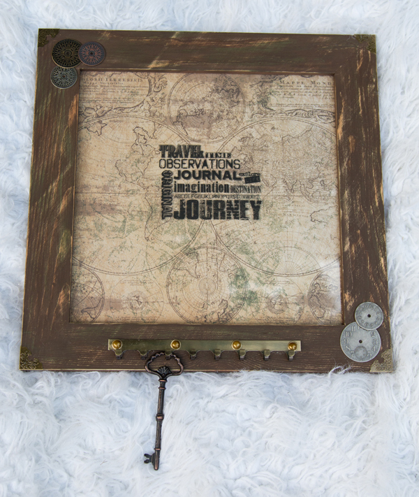 Tim Holtz Map Frame @craftsavvy #craftwarehouse #distress #frame #timholtz #diy