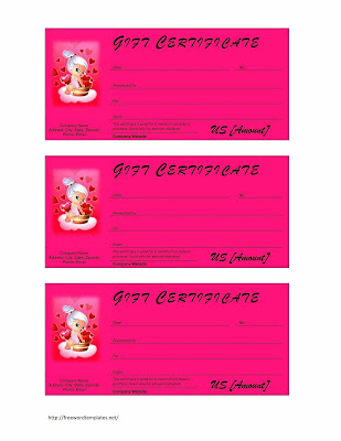 Birthday Card Gift Certificate Template Nmaio