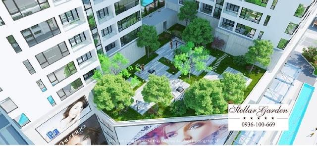 Vườn dạo bộ tiện ich chung cư Stellar Garden 35 Lê Văn Thiêm