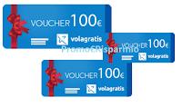 Logo Concorso ''PostePay premia'': vinci 1.500 voucher Volagratis da 100€