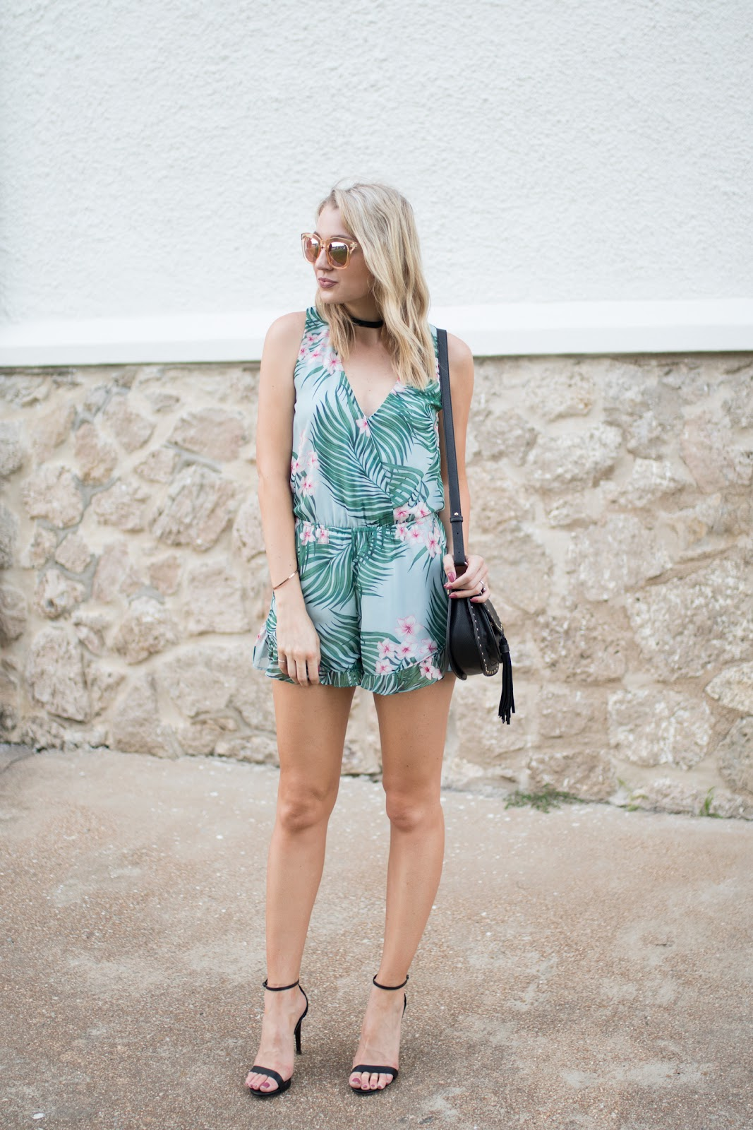 Tropical palm romper