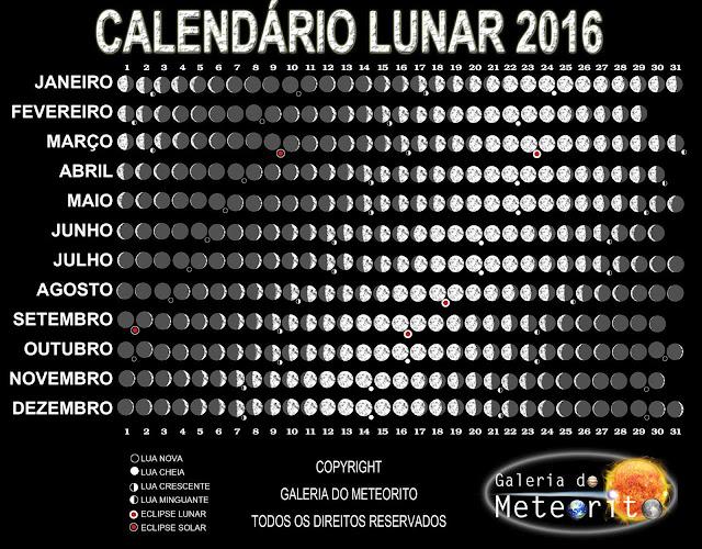 Calendário Lunar 2016