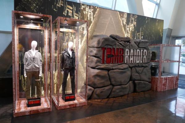 Tomb Raider movie costume prop exhibit