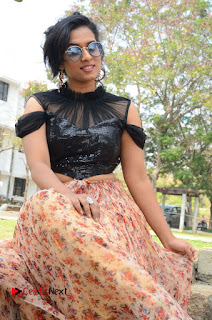 Actress Chetana Uttej Stills in Floral Long Skirt at Pichiga Nachav Movie Press Meet  0076.JPG