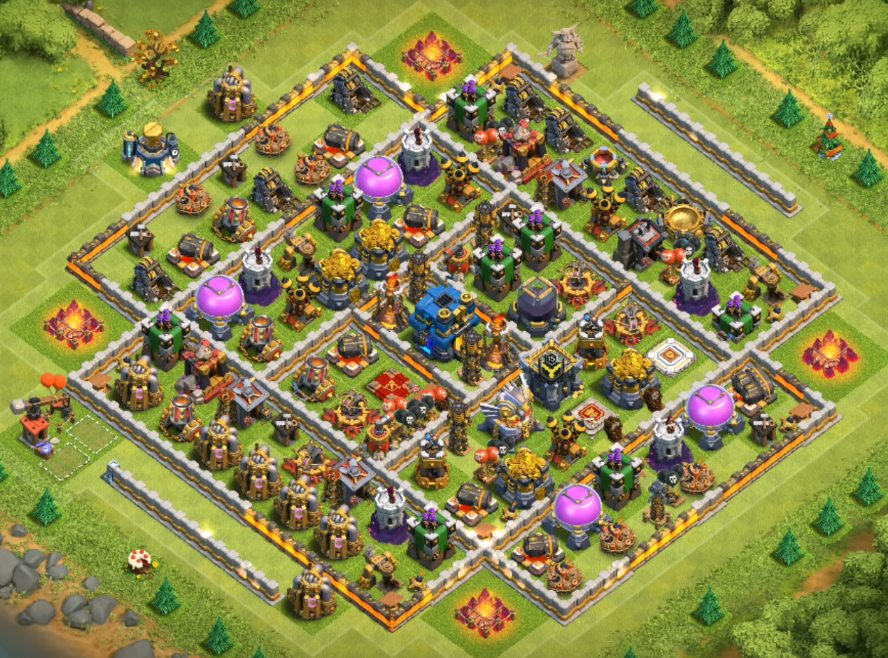 clash of clans town hall 12 farming base