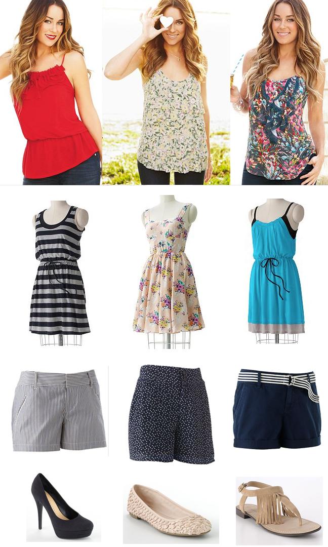 f59d193a9b8 Tops  Drop-waist chiffon camisole   Floral ruffle tank   Floral ruffle  chiffon camisole. Dresses  Pleated mock-layer dress   stripe mock-layer  dress ...