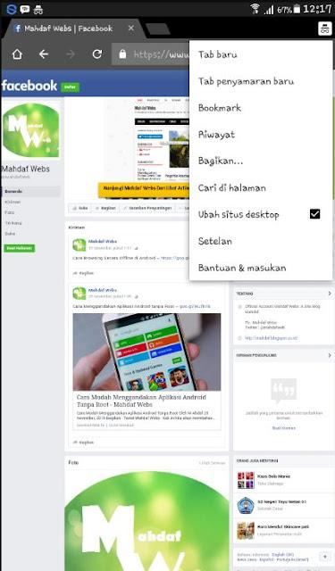 Membuka Facebook Dengan Browser Google Chrome