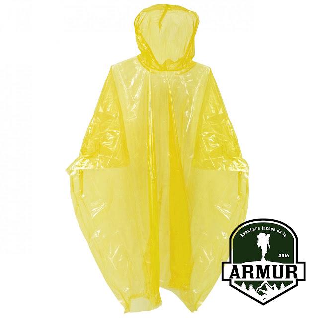 Pelerina ploaie pentru copii Poncho galbena