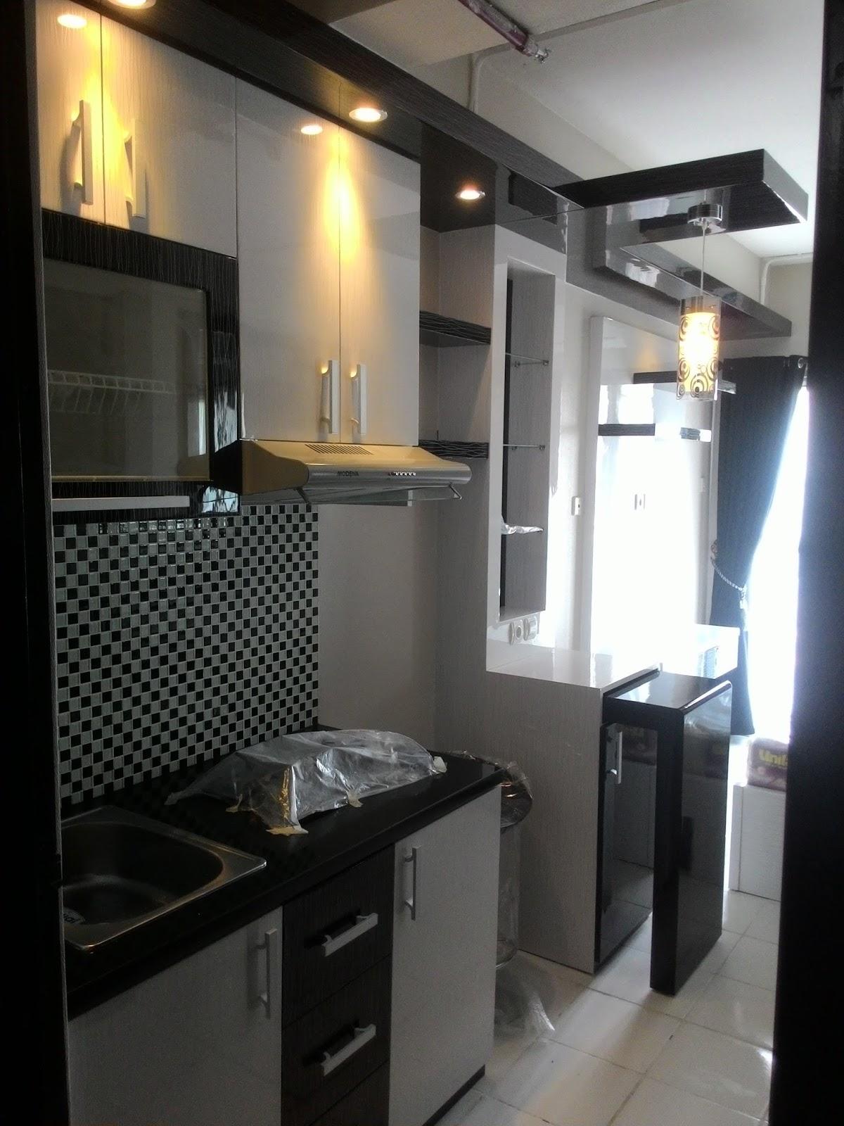 Jasa Pembuatan Kitchen Set Minimalis Modern  - Apartemen