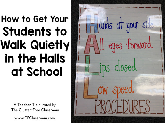 Are you wondering how to get your students to walk quietly in a line? This classroom management tip will be helpful to elementary teachers.