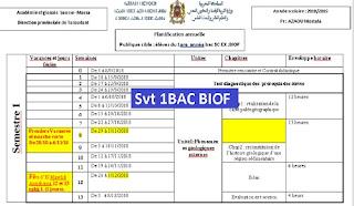 planification annuelle svt 1bac sc ex option français