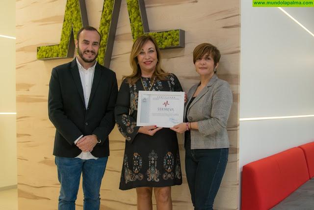 SERMEVA se convierte en la primera empresa socialmente responsable con el colectivo afectado por el Alzheimer en La Isla de La Palma