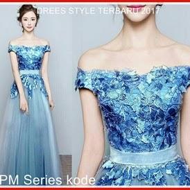 2SPM Gaun Pesta Dress Wanita Anggun Cantik Bj5002