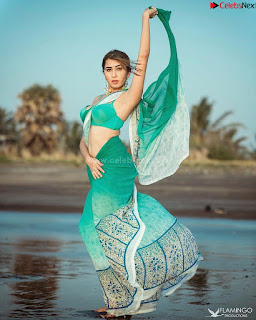 Ruma Sharma in Saree with Style Green Choli .xyz Exclusive Pics