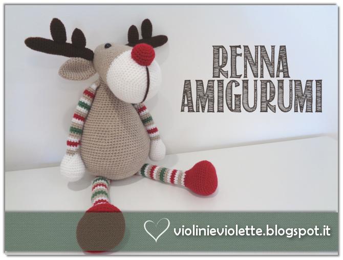 Renna Amigurumi Tutorial Natale - Reindeer Moose Crochet Christmas ... | 508x670