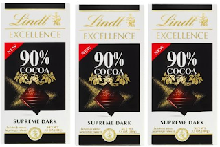 Image: Lindt Excellence 90% Cocoa Bar - Highest quality cocoa beans to creating the finest textures