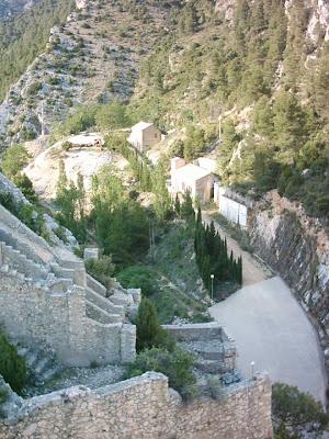 Pantano ,embalse, Pena ,Beceite ,frontera ,Valderrobres, vista abajo 2