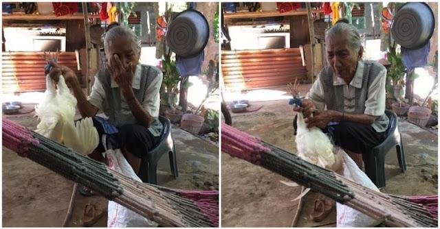 Memprihatinkan, Demi Menyambung Hidup Bersama Cucunya, Nenek ini Rela Menjual Apa Saja
