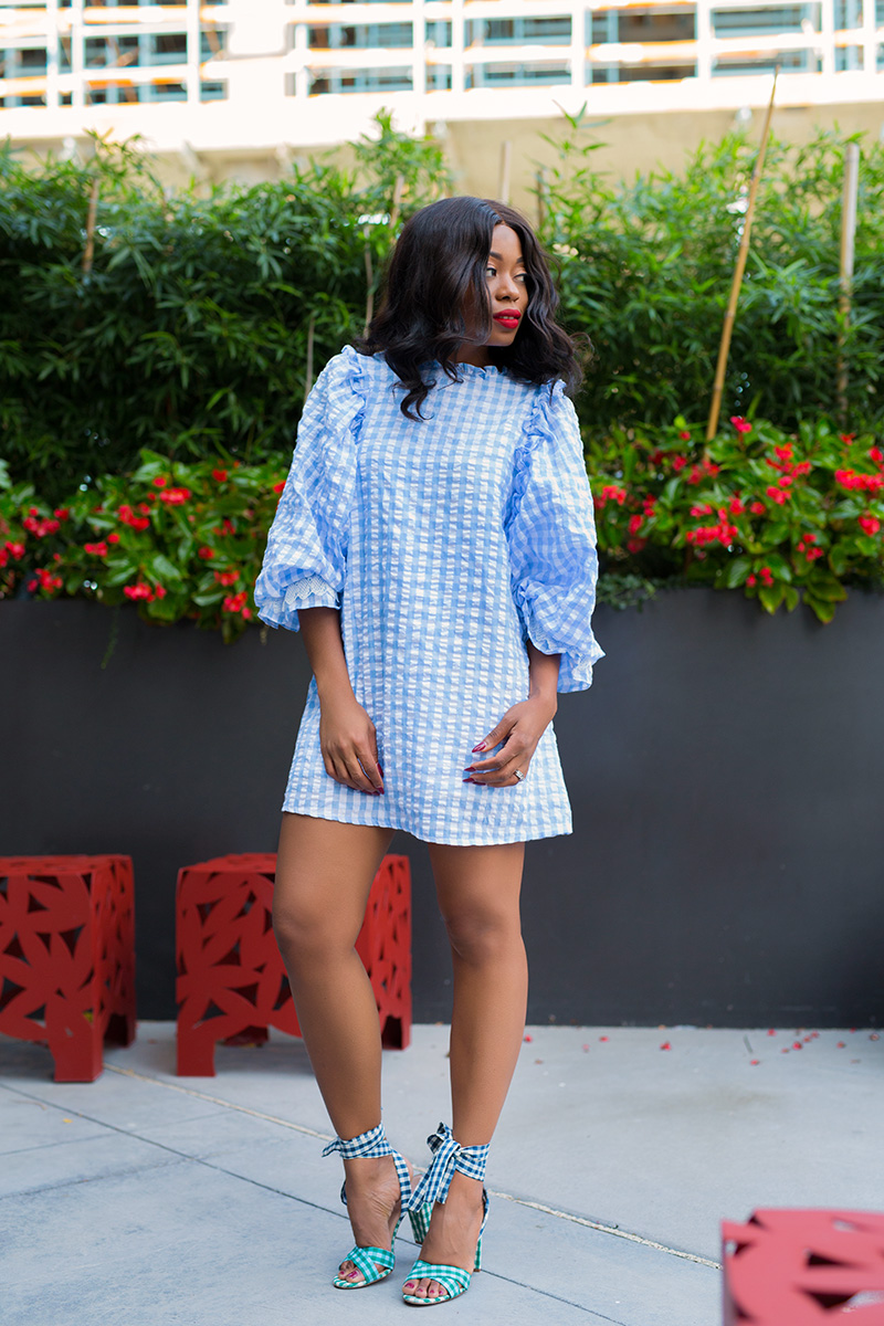 summer days, sister jane gingham dress, jcrew gingham sandals, www.jadore-fashion.com