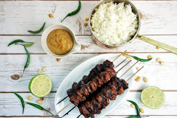 Indonesian Style Beef Satay with Spicy Peanut Sauce #indoneasianrecipe #dinner