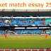 a cricket match essay 250 words