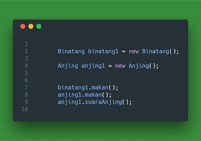 Contoh Code Program Membuat dan Memanggil kelas objek