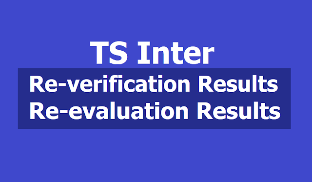TS Inter Re-verification results, Re-evaluation results 2019 to be out on May 27