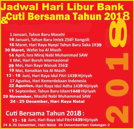 Ilustrasi Jadwal Hari Libur Semua Bank Di Indonesia
