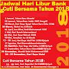 Jadwal Hari Libur Semua Bank Di Indonesia 2018