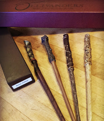 Homemade Harry Potter wands by Bonggamom