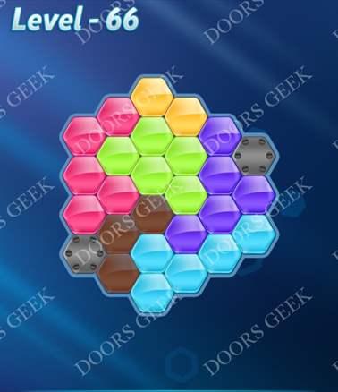Block! Hexa Puzzle [6 Mania] Level 66 Solution, Cheats, Walkthrough for android, iphone, ipad, ipod
