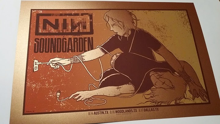 Nine Inch Nails and Sound Garden concert poster in Texas  canvas print