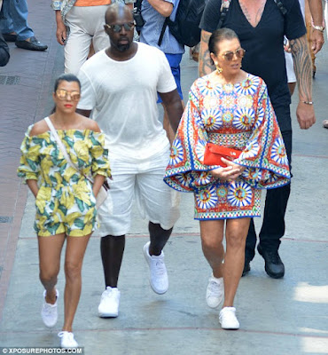 Kris Jenner vacations with Kourtney K and Corey Gamble in Italy {Photos}