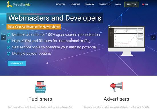 propeller ads, how to earn from propeller ads