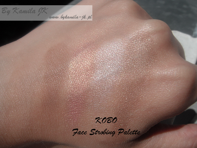 Paleta do strobingu Face Strobing Palette Kobo swatche Natura konturowanie
