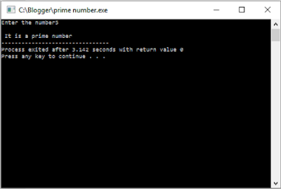 Checking Prime number output 2